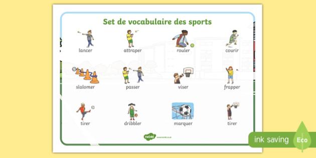 Set de mots sur les sports collectifs