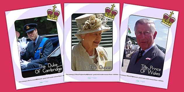 The Royal Family Display Photos - royal family, photo display