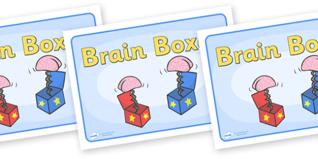 Group Signs (Brain Boxes) - brain, boxes, group signs, group labels, group table signs, table sign, teaching groups, class group, class groups, table label