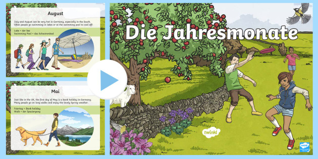 Months of the Year in Germany PowerPoint - Months of the Year, Months, German, Wochentage