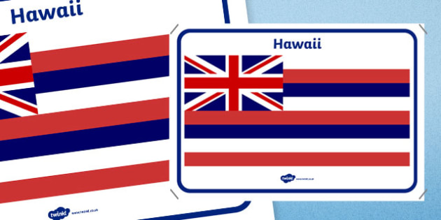 Hawaii Flag Display Poster