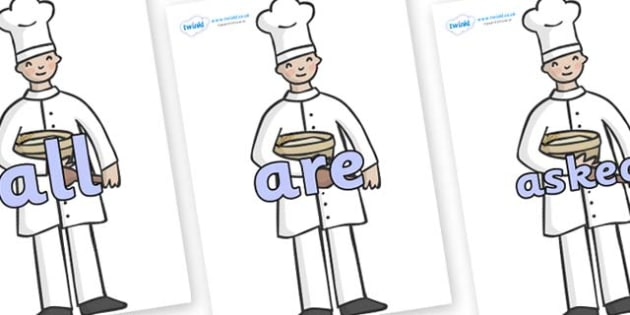 Tricky Words on Bakers - Tricky words, DfES Letters and Sounds, Letters and sounds, display, words
