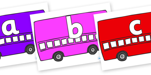 Phoneme Set on Buses - Phoneme set, phonemes, phoneme, Letters and Sounds, DfES, display, Phase 1, Phase 2, Phase 3, Phase 5, Foundation, Literacy