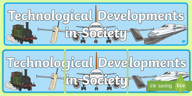 Technological Developments in Society Display Banner CfE - banner