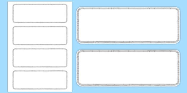 Editable Castle Wall Themed Cards - editable, castle, wall, themed, cards
