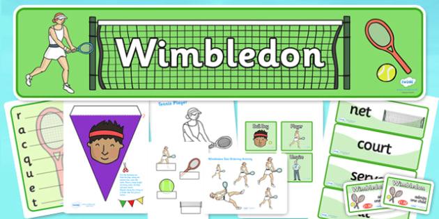 Wimbledon Role Play Pack - wimbledon, wimbledon role play, wimbledon pack, wimbledon tournament role play, tennis role play, sports, pe, physical, game