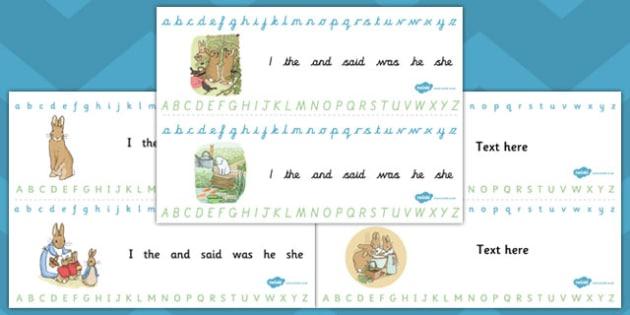 The Tale of Peter Rabbit Alphabet Strips - alphabet strip, rabbit