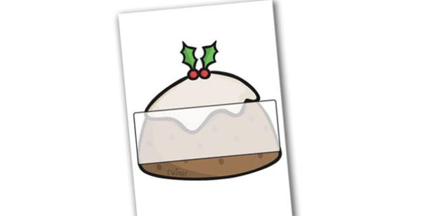 A4 Christmas Pudding Editable  - christmas, display, editable