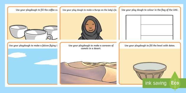 UAE National Day Playdough Mats