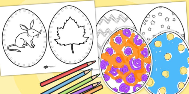 Easter Egg Templates - easter, easter egg, templates, crafts, art