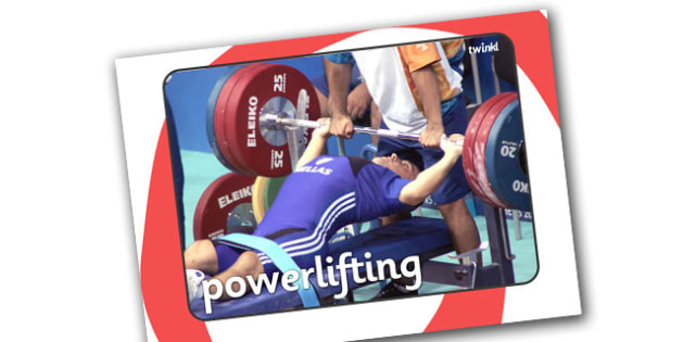 The Paralympics Powerlifting Display Photos - Powerlifting, weights, Paralympics, sports, wheelchair, visually impaired, display, photo, photos, poster, 2012, London, Olympics, events, medal, compete, Olympic Games