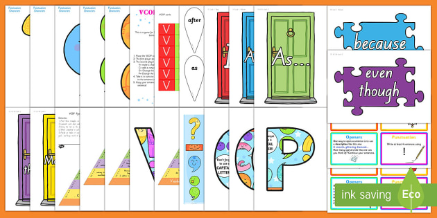 NZ Levelled VCOP Resource Pack-Australia - New Zealand Back to School, Australia, VCOP, grammar, punctuation