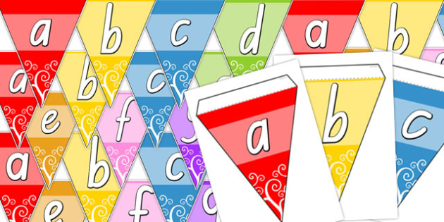 Multicolour Alphabet Bunting Pack - australia, alphabet, bunting, pack