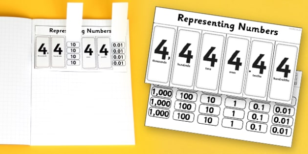 Place Value Flap Book Activity Th H T U Decimals - place value