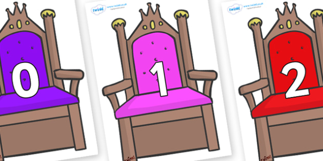 Numbers 0-50 on Thrones - 0-50, foundation stage numeracy, Number recognition, Number flashcards, counting, number frieze, Display numbers, number posters