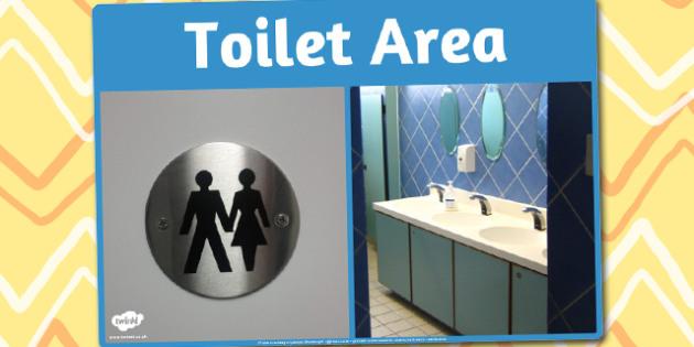 Toilet Area Photo Sign - toilet, area, photo, sign, display