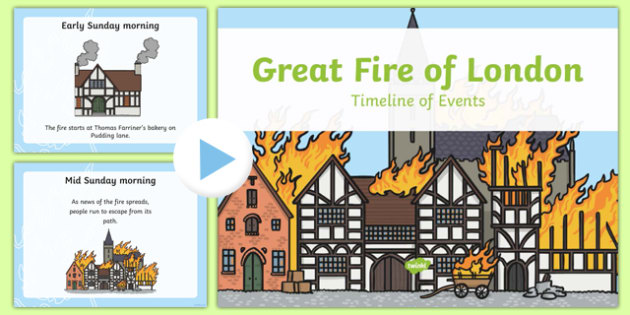 Great Fire of London Timeline PowerPoint - great fire of london, timeline powerpoint, great fire of london timeline, powerpoint, information powerpoint