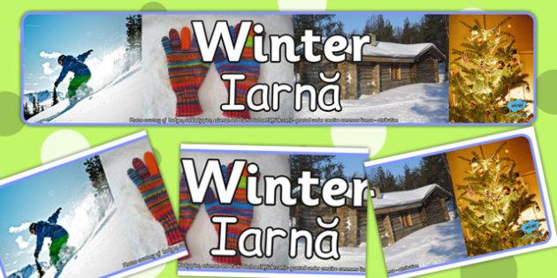 Winter Photo Display Banner EAL Romanian Translation - romanian