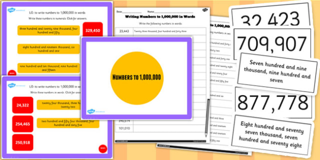 Year 5 Numbers to 1,000,000 Lesson 5 Teaching Pack - numeracy