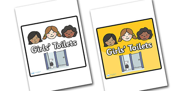 Girls Toilet Area Sign - sign, display sign, area display sign, area sign, area, girls toilets area sign, girls toilet, girls toilet area, girls toilet sign, toilet sign, classroom areas, school areas, classroom area signs, topic signs, topic area si
