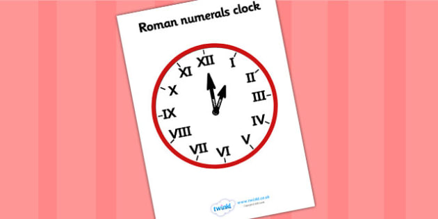 Roman Numeral Clock - roman, roman numerals, clock, time, numbers
