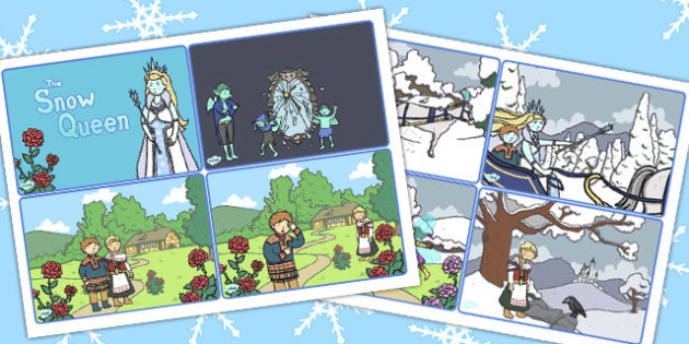 The Snow Queen Story Sequencing Cards - stories, traditional