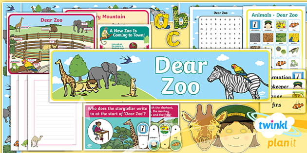 PlanIt Y1 Animals: to Support Teaching on Dear Zoo Additional Resources - Dear Zoo, animals, stories, repeating parts, display, wall, role play