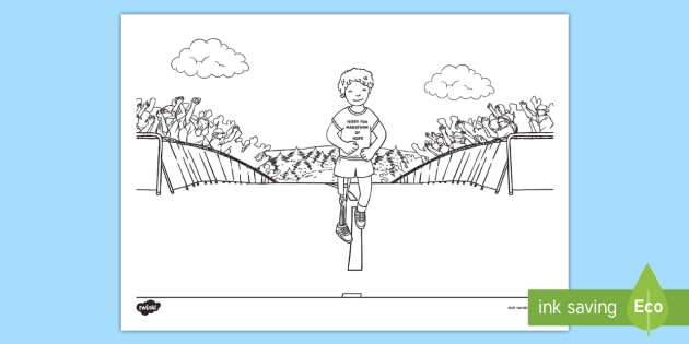 Terry Fox Colouring Pages