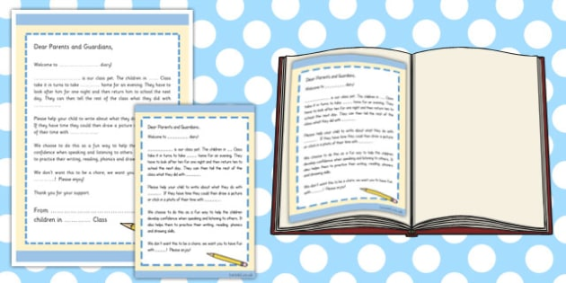 Editable Class Toy Introduction Letter - editable, class toy, diary