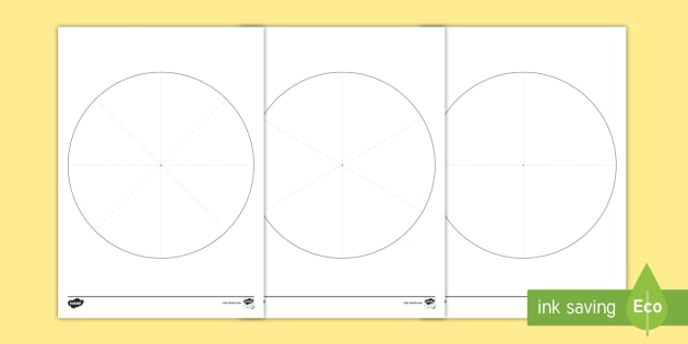 Pie Chart Template Activity Sheet - Interpret And Construct Pie
