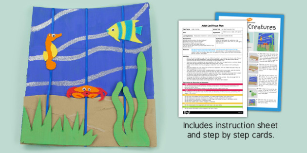 Felt Sea Creatures Picture Craft Adult Led Focus Plan Craft Pack