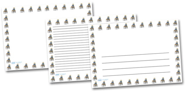 Work Sheet Landscape Page Borders- Landscape Page Borders - Page border, border, writing template, writing aid, writing frame, a4 border, template, templates, landscape
