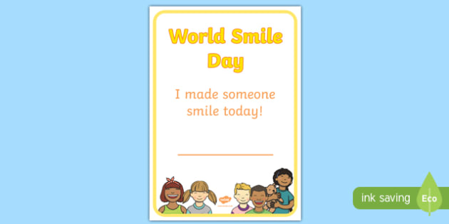 World Smile Day Certificate