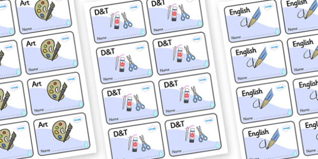 Raindrop Themed Editable Book Labels - Themed Book label, label, subject labels, exercise book, workbook labels, textbook labels