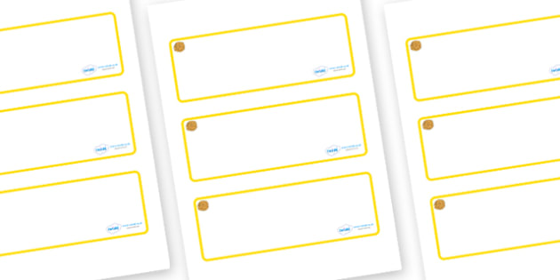 Marigold Themed Editable Drawer-Peg-Name Labels (Blank) - Themed Classroom Label Templates, Resource Labels, Name Labels, Editable Labels, Drawer Labels, Coat Peg Labels, Peg Label, KS1 Labels, Foundation Labels, Foundation Stage Labels, Teaching Lab