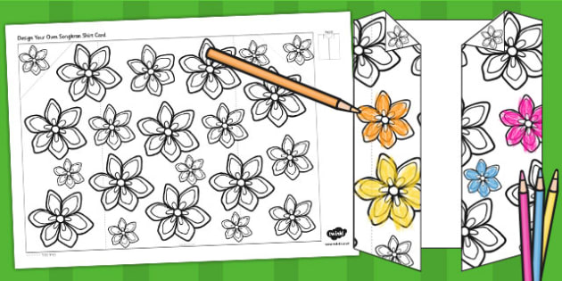 Make Your Own Songkran Shirt Card - activity, activities, cards