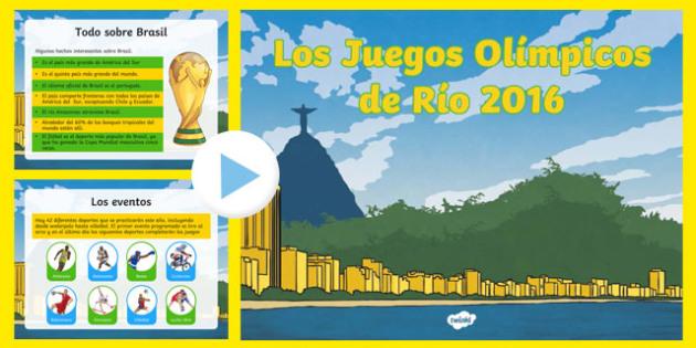 KS2 Olympic Games Rio 2016 PowerPoint-Spanish