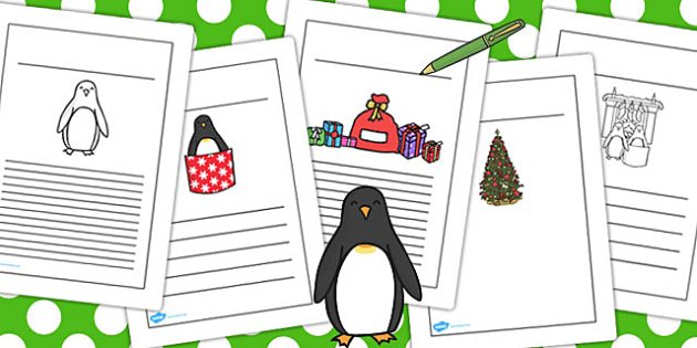 Monty the Penguin Writing Frames - monty, penguin, writing, frame