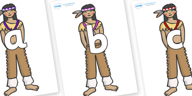 Phoneme Set on Native Americans - Phoneme set, phonemes, phoneme, Letters and Sounds, DfES, display, Phase 1, Phase 2, Phase 3, Phase 5, Foundation, Literacy