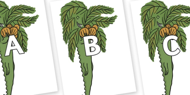 A-Z Alphabet on Trick One to Support Teaching on The Enormous Crocodile - A-Z, A4, display, Alphabet frieze, Display letters, Letter posters, A-Z letters, Alphabet flashcards