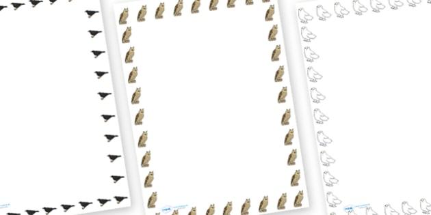 British Birds Page Border - british birds, page borders, page, borders