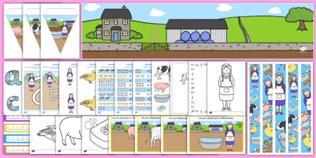 Washerwoman Resource Pack - mrs wishy washy, washerwoman, resource pack