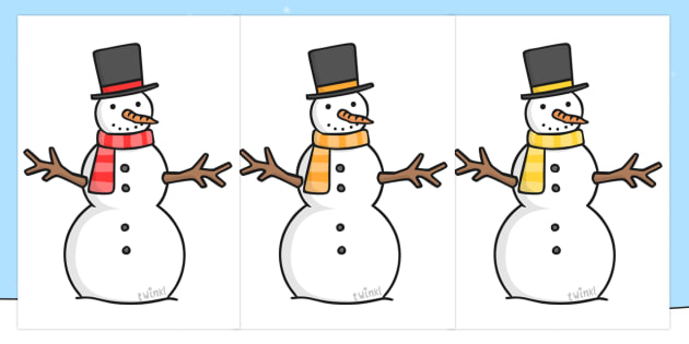 Editable Snowmen  Snowman Winter Editable Template