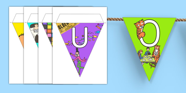 Our Library Bunting - our, library, bunting, display, our library