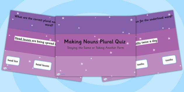 Making a Noun Plural Noun Doesnt Change Takes Another Form SPaG
