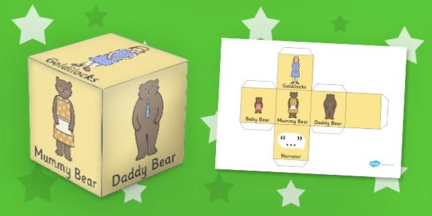 Goldilocks and the Three Bears Role Play Dice - role-play, dice