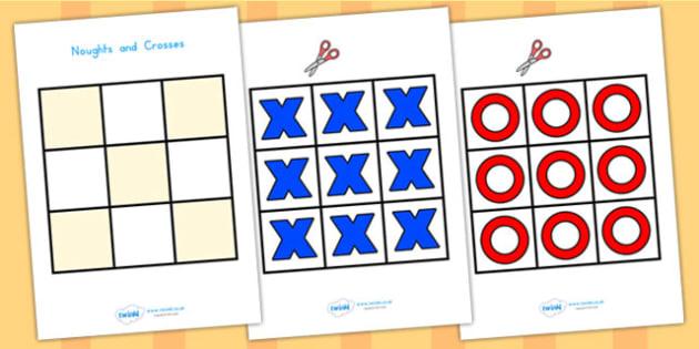Noughts and Crosses Grids - noughts and crosses, games, wet play