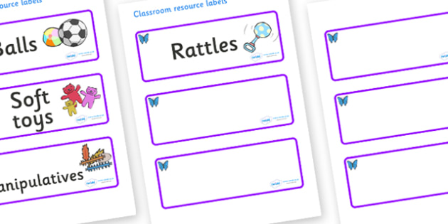 Butterfly Themed Editable Additional Resource Labels - Themed Label template, Resource Label, Name Labels, Editable Labels, Drawer Labels, KS1 Labels, Foundation Labels, Foundation Stage Labels, Teaching Labels, Resource Labels, Tray Labels, Printabl