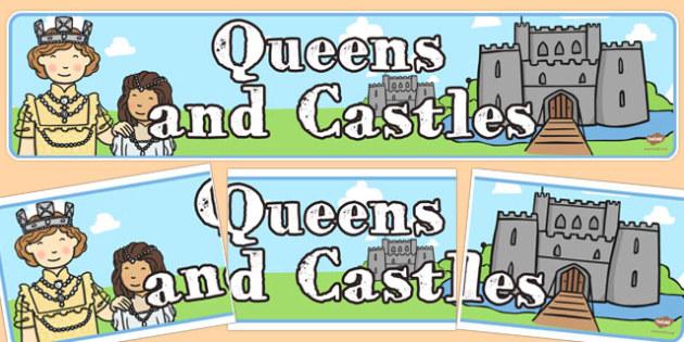 Queens and Castles Display Banner - queens, castles, display banner