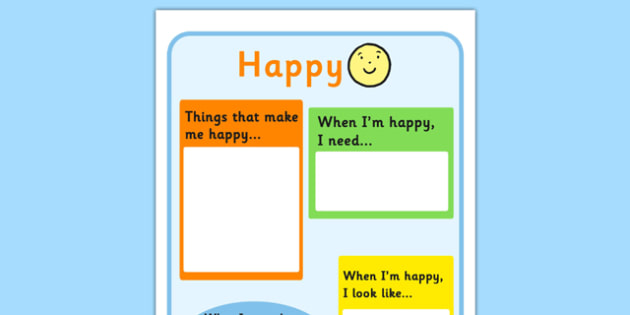 Happy Chart - feelings, emotions, SEN, class management, charts